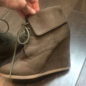 Mossimo Supply Co. Shoes - Faux suede wedge booties